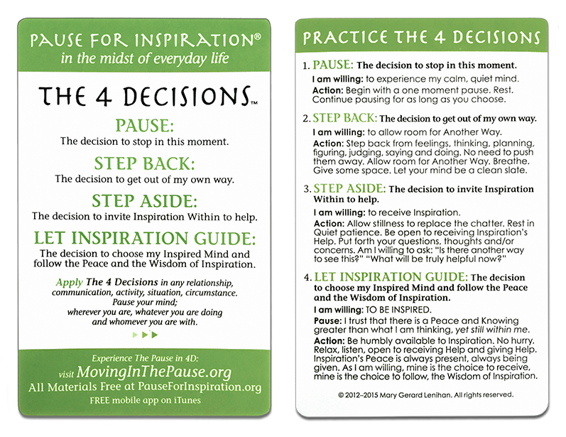 The Four Decision Cards