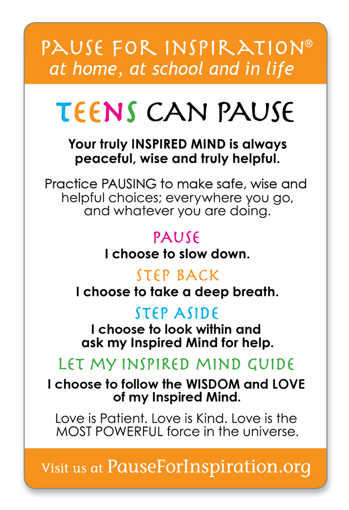 Teens Can Pause